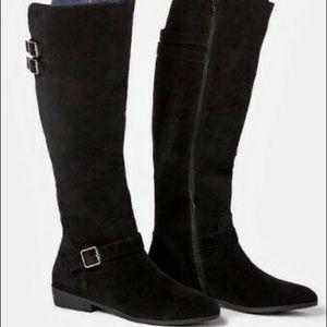Lousa Flat Boots - JustFab - Size 12M